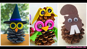 pine cone crafts for kids youtube