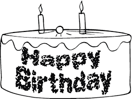 happy birthday coloring page party and cake birthday coloring