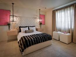 beige curtain for elegant bedroom decorating ideas with wrought