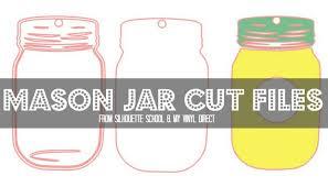 free mason jar silhouette studio cut file silhouette