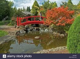 Botanic Gardens Hobart Japanese Garden Royal Botanical Gardens Hobart Tasmania Stock