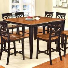 room a easy on the eye black counter height dining table sets high