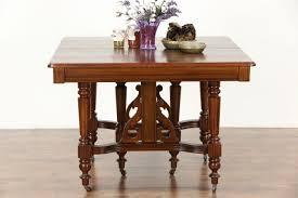 square dining room table with leaf sold victorian eastlake ash u0026 oak antique 1900 square dining