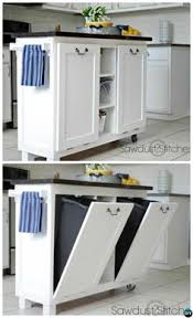 kitchen island with trash bin 5 smart ways to hide your kitchen trash can diy cabinets