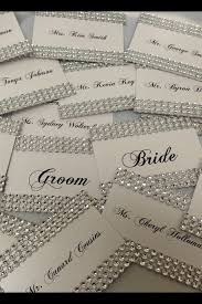 bling wedding programs what about adding some sparkle to your tables with those beautiful