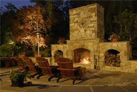 transform outdoor fireplace patio for home interior designing with