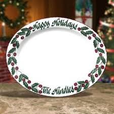 personalized christmas platter personalized 16 oval snowman serving platters