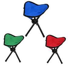 si e pliant randonn tabouret pliable trépied chaise portable de pêche cing randonnée