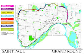 St Paul Campus Map Saint Paul Grand Round Saint Paul Minnesota