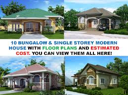 floor plans for cottages and bungalows bungalow single story modern house with floor plans cottage