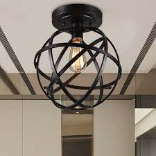 Globe Ceiling Light Emrael 1 Light Globe Ceiling Lamp Antique Black Includes Edison