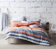 blue and orange bedding blue and orange striped extra long twin college comforter dorm