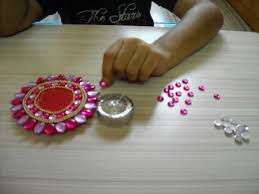 craft diwali diya juhu pre primary art craft phonics