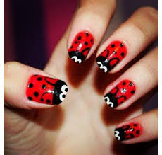 lady bug nails nailssssss pinterest lady bugs nails