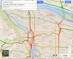 map of oregon freeways busiest roads in portland oregon during hour traffic