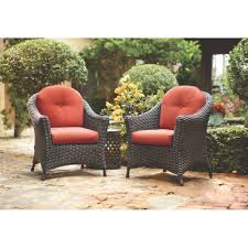 Patio Chairs With Cushions Martha Stewart Living Lake Adela Patio Charcoal Chat Chairs With