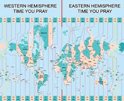 World Time Map Prayer Times World Praying Together