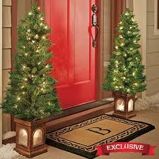 set 2 lighted porch trees new seasonal new year