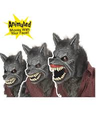 deluxe halloween masks deluxe ani motion werewolf mask horror halloween masks