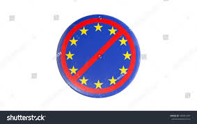 Single Flag Single Stars Eu Badge Crossed Out Stock Illustration 430991287