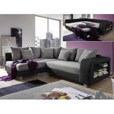 canap noir et gris marque generique canapé d angle convertible tissu et simili kuopio