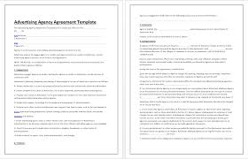 advertising agency agreement template tips u0026 guidelines