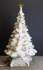 ceramic light up christmas tree 1960s white and gold lighted ceramic christmas tree multi
