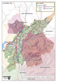 Lancashire England Map by Lancaster District Lancashire County Council