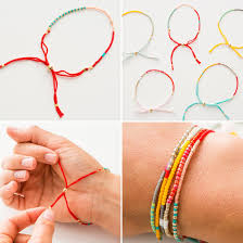 make friendship bracelet with beads images Use seed beads to make these colorful friendship bracelets diy jpg