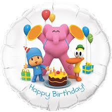 amazon com pocoyo happy birthday foil balloon toys u0026 games