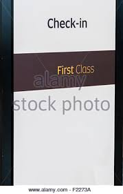 check in desk sign information desk sign in an airport stock photo 172400899 alamy