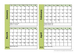 printable calendar generator 2018 four month calendar template free printable templates