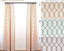 Burnt Orange Curtains And Drapes Orange Curtains Etsy