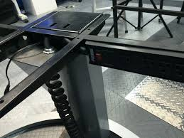 adjustable height sit stand desk power cord hack 4 steps