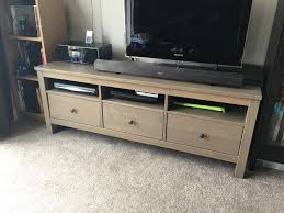 hemnes tv bench ikea hemnes tv bench tv unit ash brown pine in cotham bristol