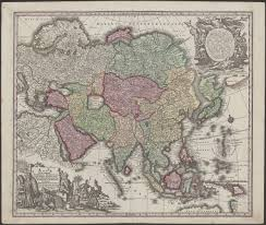 Map Of Asia And Middle East by 1744 Map Of Asia From Middle East Russia India China Japan To