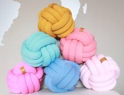 knot pillows grande sphere knot pillow juju jake