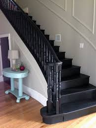 Painting A Banister Black The 25 Best Black Painted Stairs Ideas On Pinterest Black