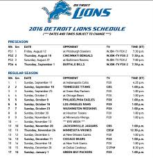 the 2016 detroit lions schedule features fewer prime time