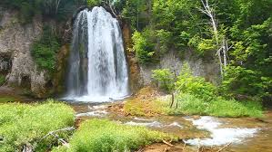 South Dakota forest images Spearfish falls flows through the black hills national forest of jpg