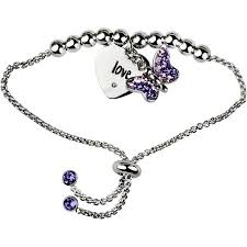 silver plated adjustable bracelet images Truly inspired swarovski crystal fine silver plated love butterfly jpeg