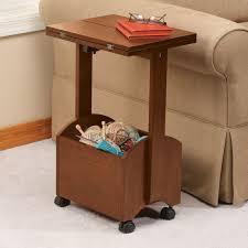 Folding Side Table Bigbolo Rolling Folding Side Table By Oakridge Accents