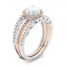diamond bridal sets pink and white diamond bridal set 101956