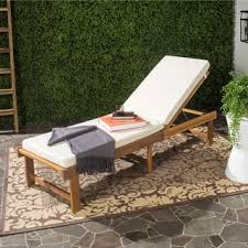 Acacia Wood Outdoor Furniture by Ariana Outdoor Acacia Wood Chaise Lounge With Cushion Set Of 2