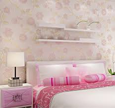 modern 3d embossed flocking flowers pattern non woven wall paper