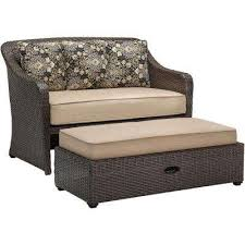 Patio Chair With Ottoman by Wicker Patio Furniture Outdoor Benches Patio Chairs The Home