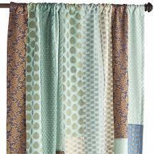 Sari Curtain Sari Patchwork Blue Curtain Pier 1 Imports