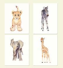 Animal Wall Decor For Nursery Safari Nursery Decor Nursery Wall Elephant Decor Baby