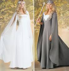 Galadriel Halloween Costume 0202 Elven Dress Costume Lotr Queen Gown Sewing Pattern Size 6 10