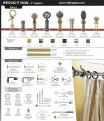 Standard Curtain Sizes Chart by Curtain Pole Diameter Sizes Nrtradiant Com